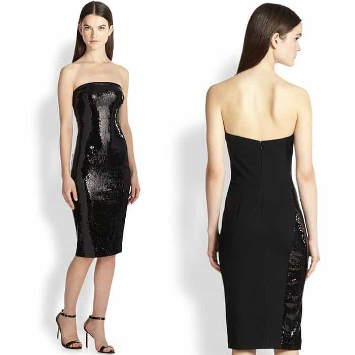 Donna Karan Sequined Strapless Dress