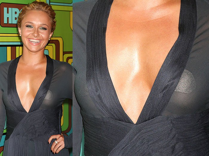 Hayden Panettiere nipple tape