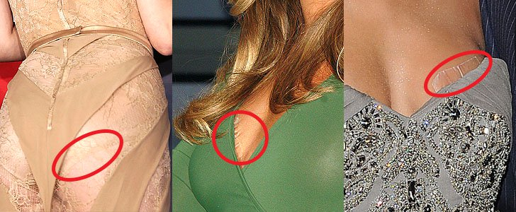 Nipple Tape & Boob Pasties: 7 Hollywood Red Carpet Fashion Secrets Accidentally Revealed
