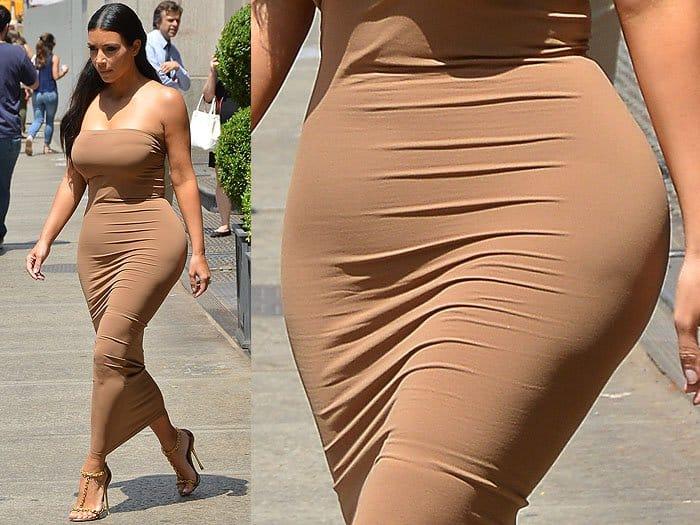 Kim Kardashian wearing Spanx