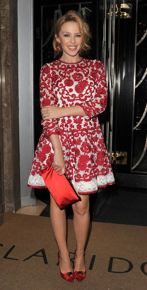 Kylie Minogue Defies Age In Gorgeous Dolce Amp Gabbana Dress