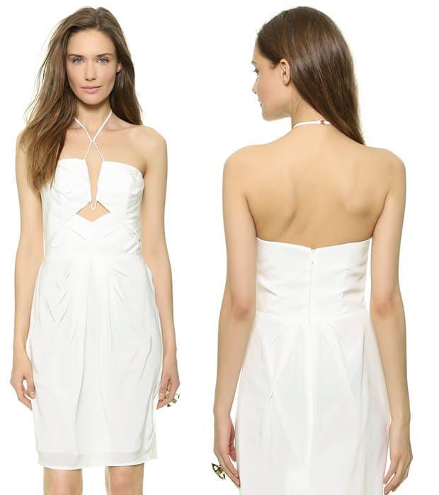 Zimmermann Silk Diamond Tuck Dress