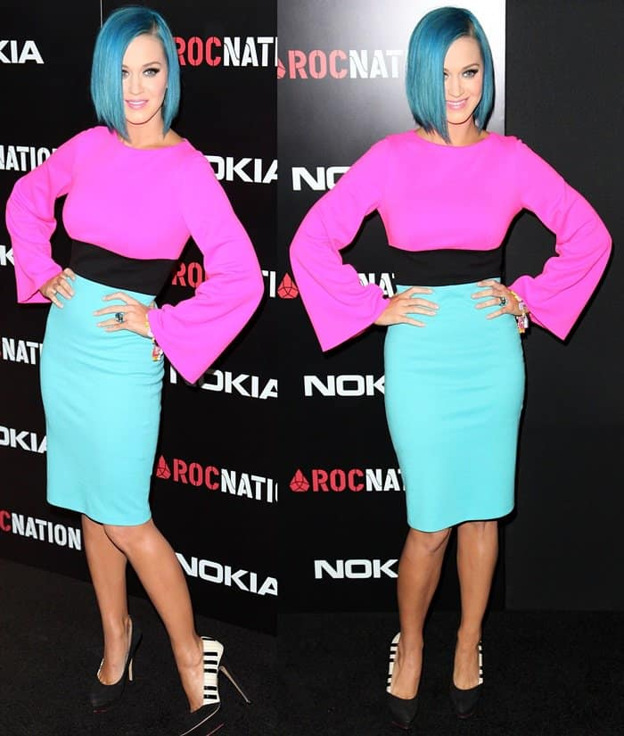 Katy Perry at Roc Nation's Annual Pre-Grammy Brunch in West Hollywood on February 11, 2012