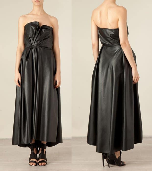Lanvin Gathered Detail Gown