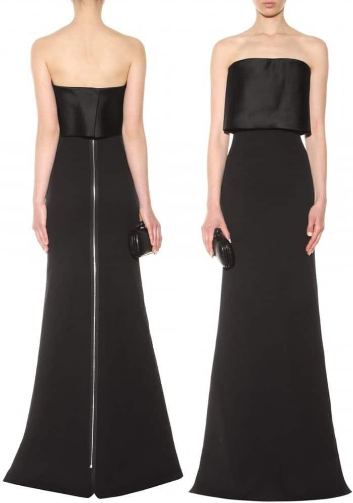 Victoria Beckham Silk and wool-blend gown