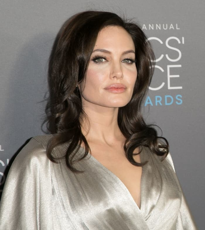 Angelina Jolie's flawless makeup and hair