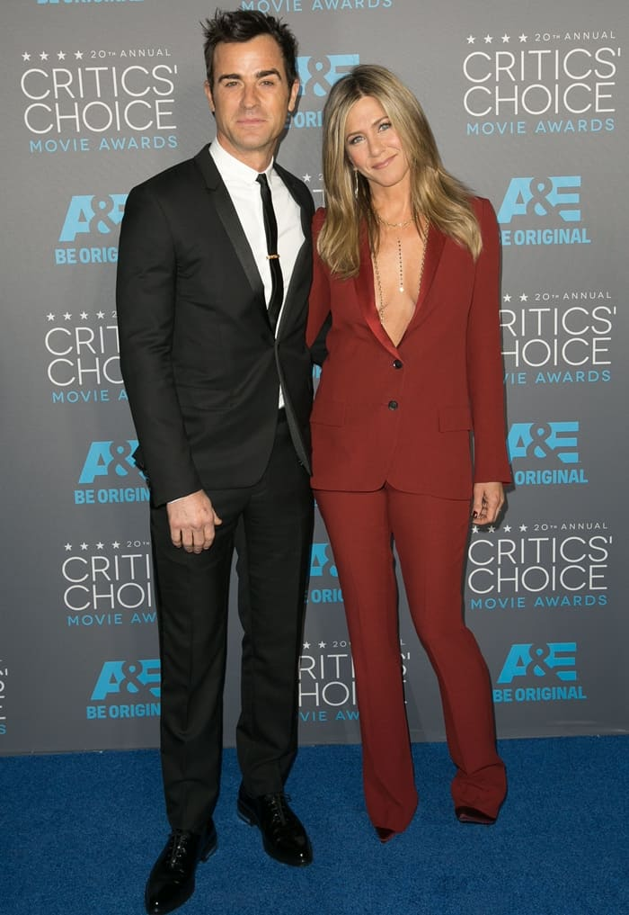 Jennifer Aniston and Justin Theroux at the 20th Annual Critics' Choice Awards