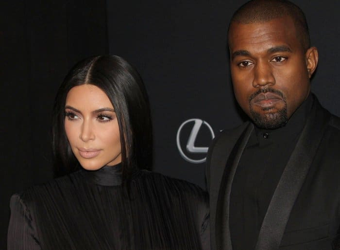 Kim Kardashian and Kanye West did not smile much on the red carpet