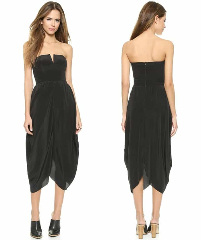 Myne Aria Strapless Dress3