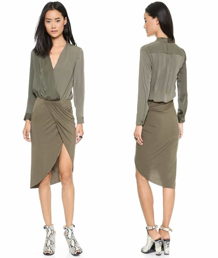 Shades of Grey by Micah Cohen Crossover Sarong Dress3