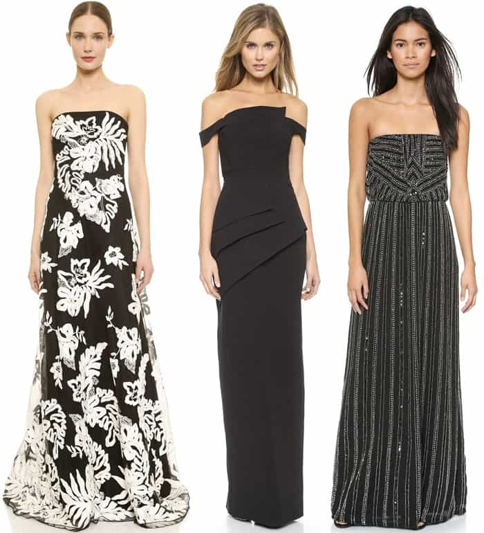 Strapless Evening Gowns
