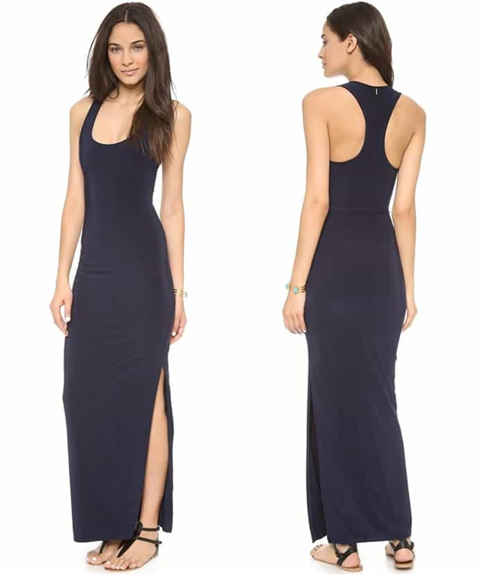 Tbags Los Angeles Racer Back Maxi Dress3