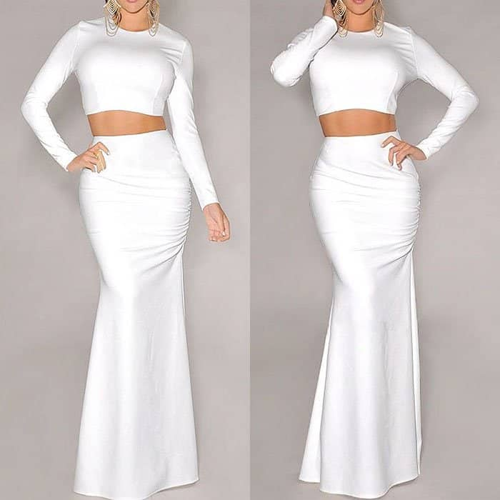 Your Gallery Two Piece Long Sleeve Dress