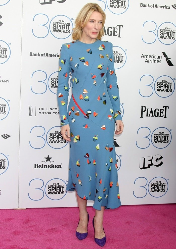 Cate Blanchett attends the 2015 Film Independent Spirit Awards at Santa Monica Beach on February 21, 2015, in Santa Monica, California
