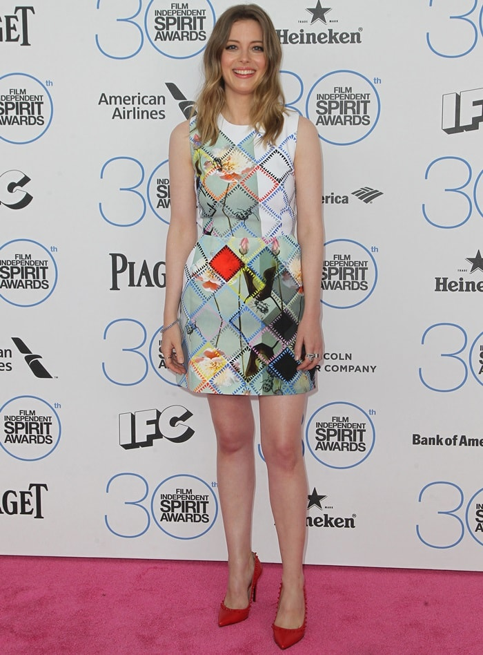 Gillian Jacobs attends the 2015 Film Independent Spirit Awards at Santa Monica Beach on February 21, 2015, in Santa Monica, California