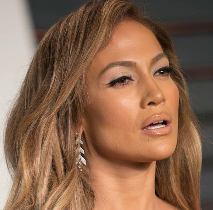 Jennifer Lopez Makes Silly Faces in Naked Embellished Dress