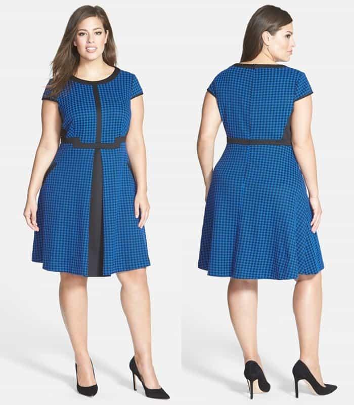 Julia Jordan Houndstooth Jacquard Fit & Flare Dress