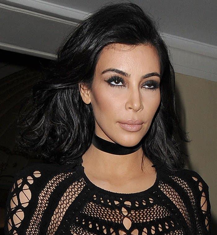 Kim Kardashian leaving The Dorchester hotel