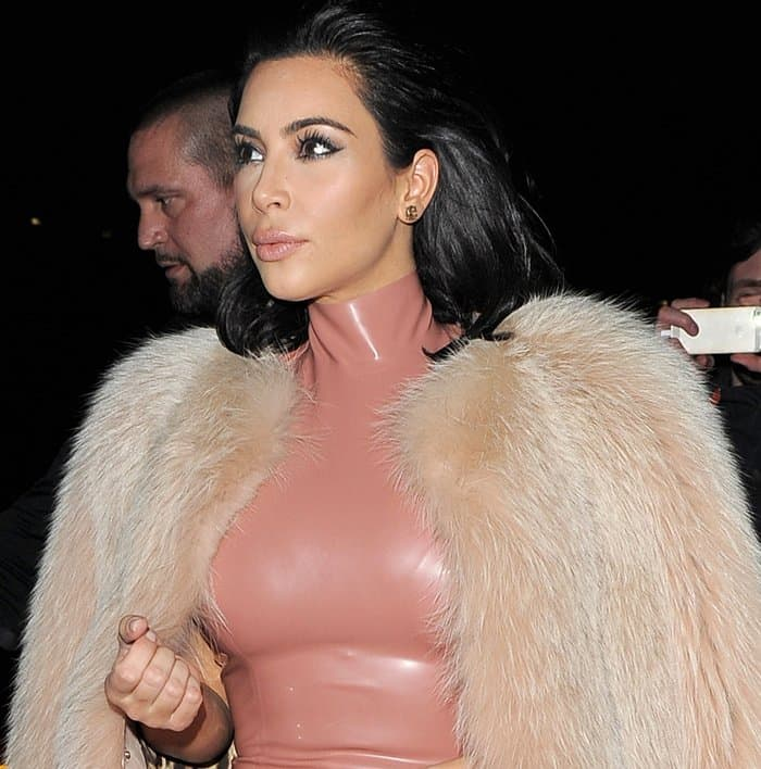 Kim Kardashian and Kanye West seen on a night out at Mr Chow