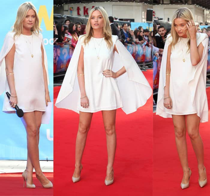 Laura Whitmore at the U.K. premiere of 'What If' held at the Odeon West End in London on August 12, 2014