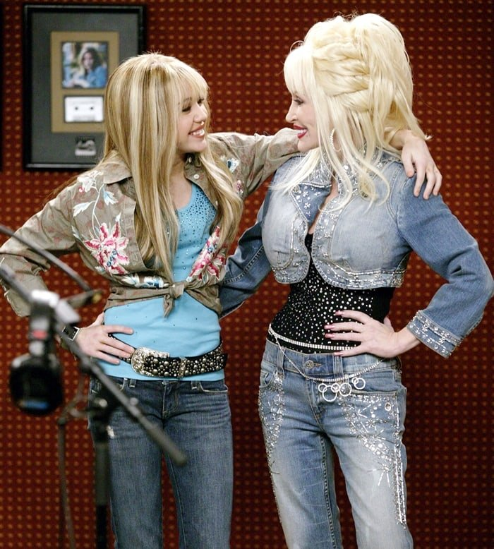 Dolly Parton also played Miley Cyrus's godmother on the American teen sitcom Hannah Montana