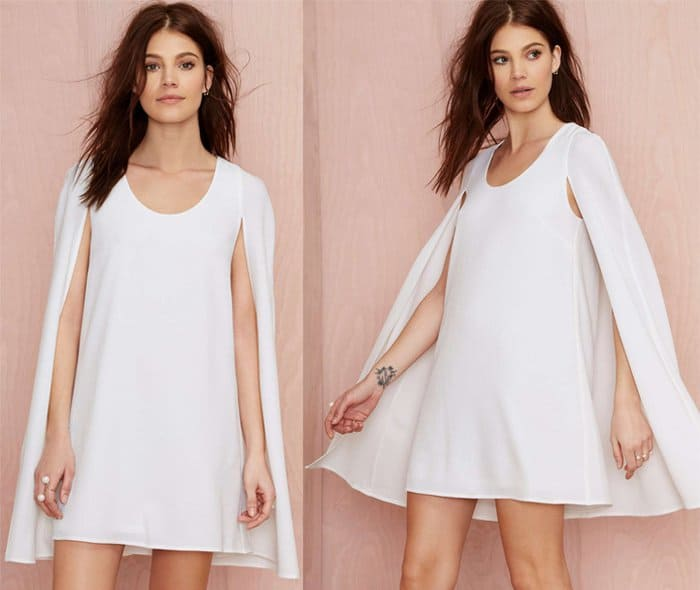 Catherine Cape Dress in Ivory