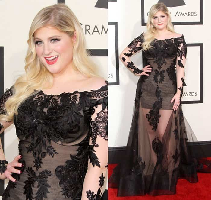 Meghan Trainor at the 57th Annual Grammy Awards held at the Staples Center in Los Angeles on February 8, 2014