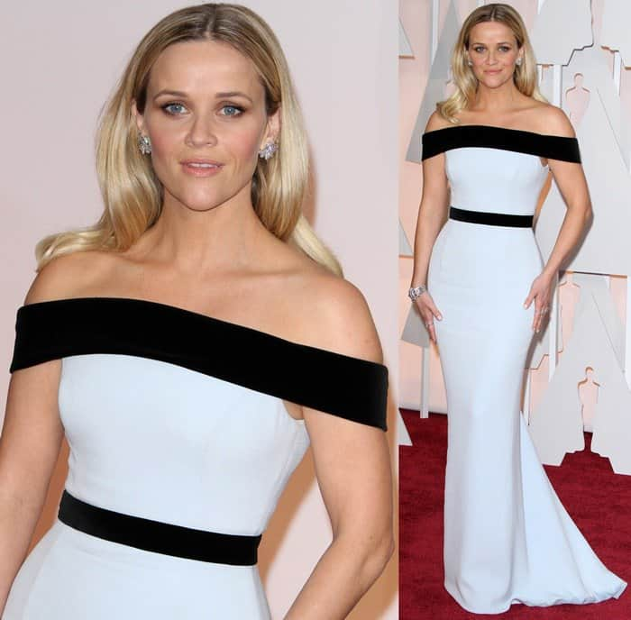 Reese Witherspoon's off-the-shoulder floor-length Tom Ford gown