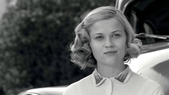 Reese Witherspoon as the shallow, popular and outgoing Jennifer in Pleasantville