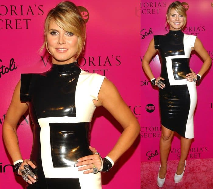Heidi Klum at Victoria's Secret Fashion Show after party at M2 Ultra Lounge in New York City on November 19, 2009