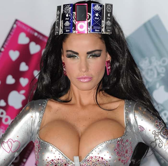 Katie Price at Boutique iPod Range Photocall held at the Worx in London on August 20, 2010