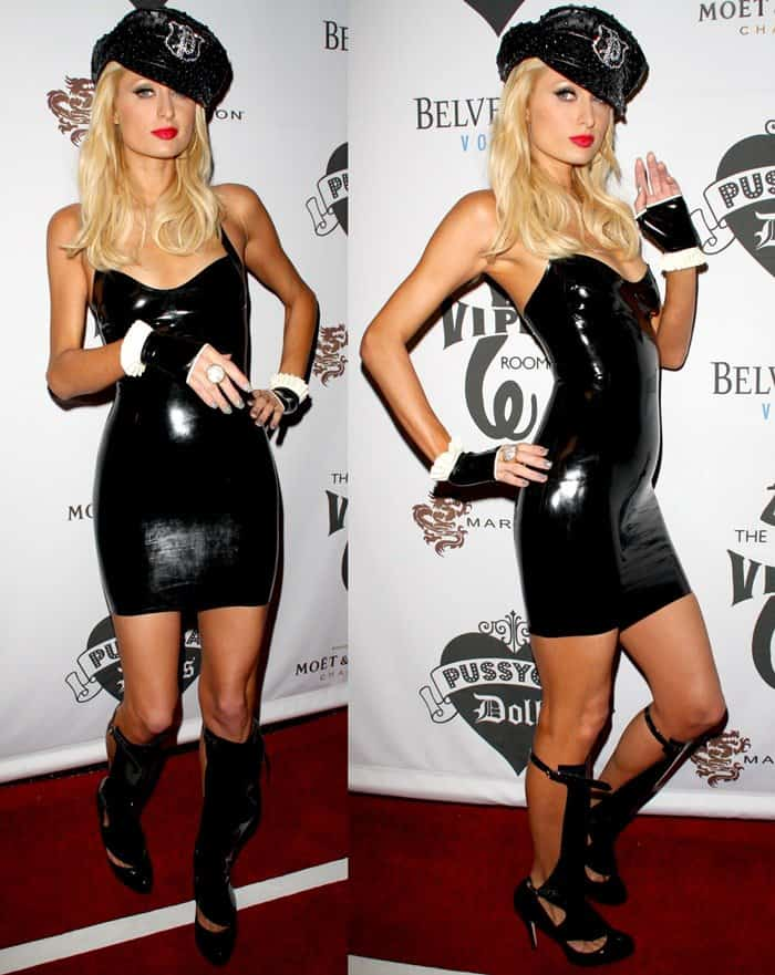 Paris Hilton at the Pussy Cat Dolls' after-party following the American Music Awards in Los Angeles on November 22, 2008