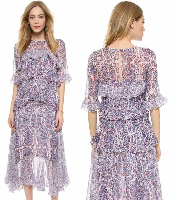 Rebecca Taylor Paisely Double Layer Dress