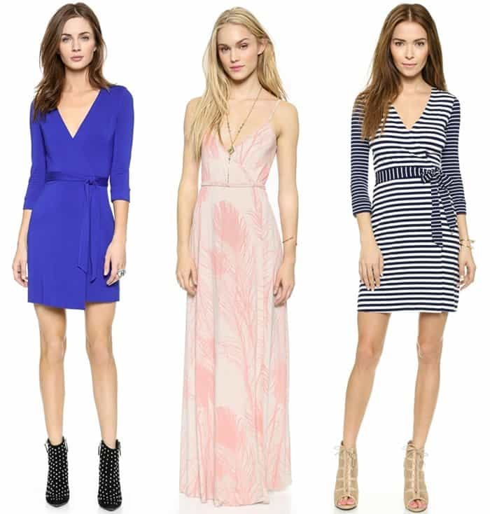 Rectangular Shape Wrap Dresses