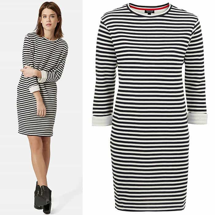 Topshop Stripe Sweater Dress