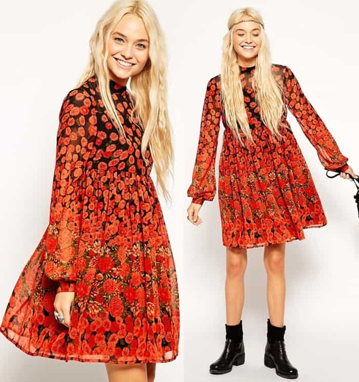 ASOS Skater Dress with Funnel Neck3