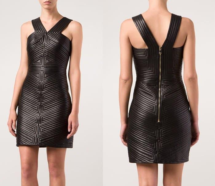 Balmain V-neck Mini Dress