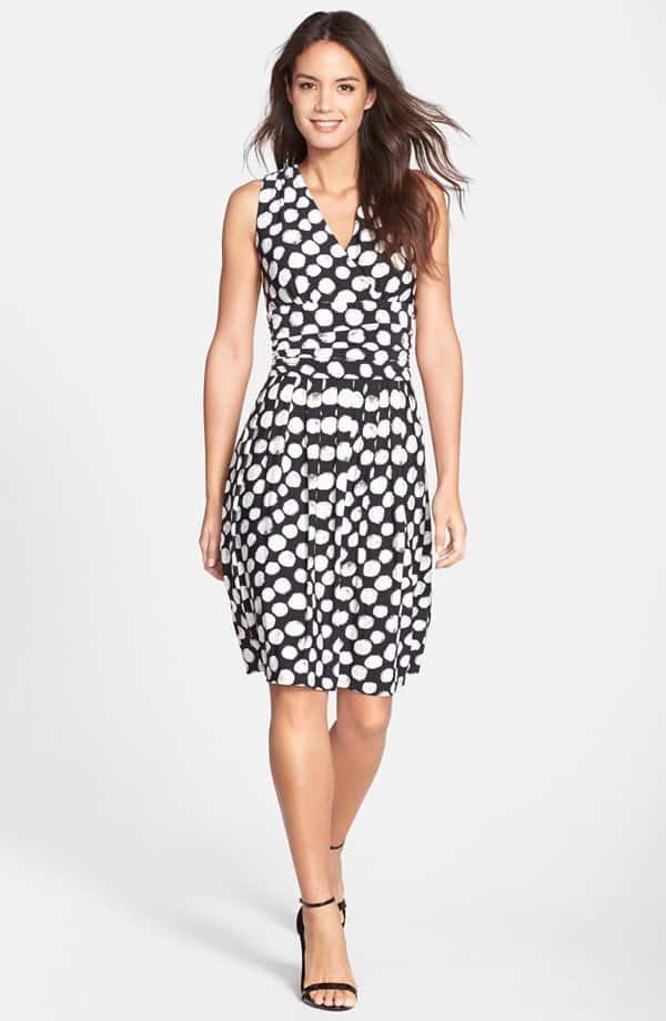 Eliza J Print Jersey Fit & Flare Dress