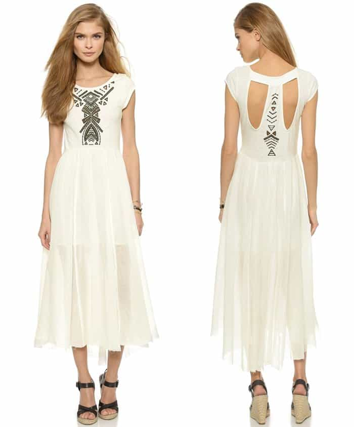Free People Toosaloosa Slub Meadows Midi Dress3