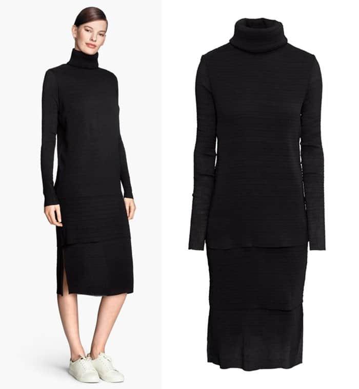 H&M Crinkled Turtleneck Dress3