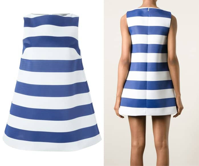 Jacquemus Striped A line Dress in Blue