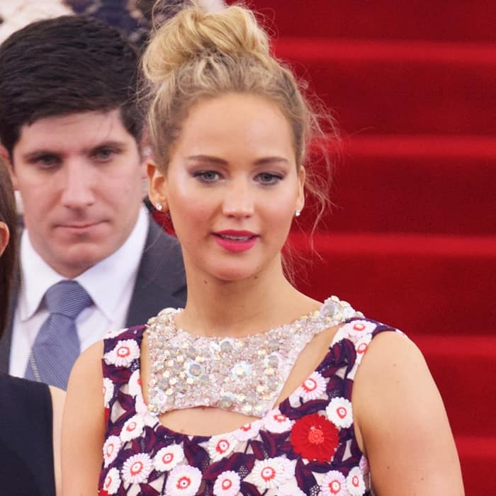 Jennifer Lawrence at the 2015 Met Gala held at the Metropolitan Museum of Art in New York City on May 4, 2015