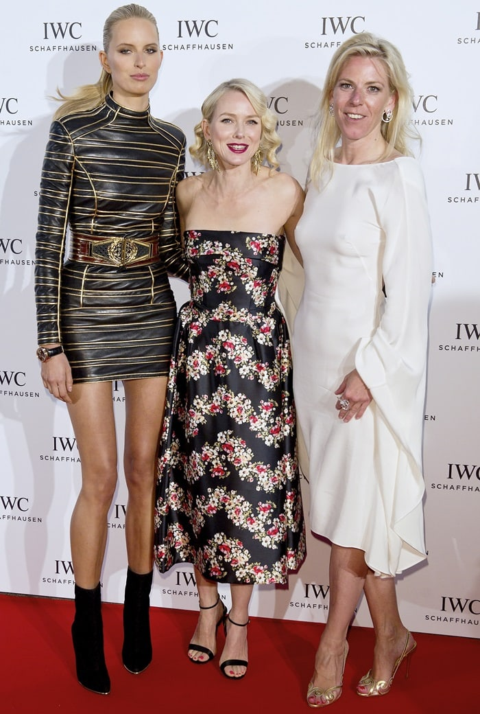 "Karolina Kurkova, posing with Naomi Watts and Monika Kern, at the IWC ""For The Love of Cinema"" event"