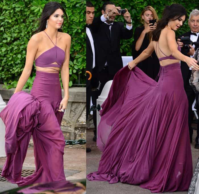 Kendall Jenner Goes for a Burst of Color in Purple Calvin Klein Gown