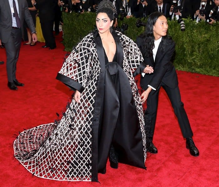 Lady Gaga and Alexander Wang at the 2015 Met Gala held at the Metropolitan Museum of Art in New York City on May 4, 2015