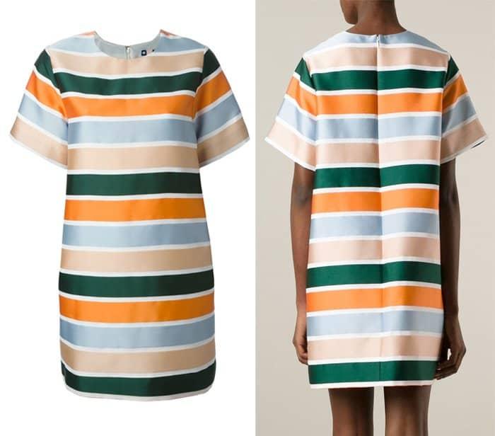 MSGM Striped Shift Dress