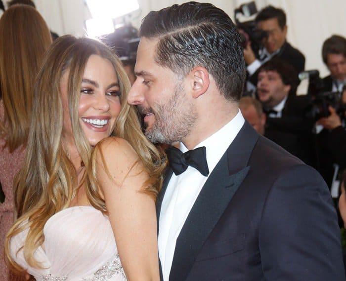 Sofia Vergara and Joseph Michael Manganiello at the 2015 Met Gala held at the Metropolitan Museum of Art in New York City on May 4, 2015