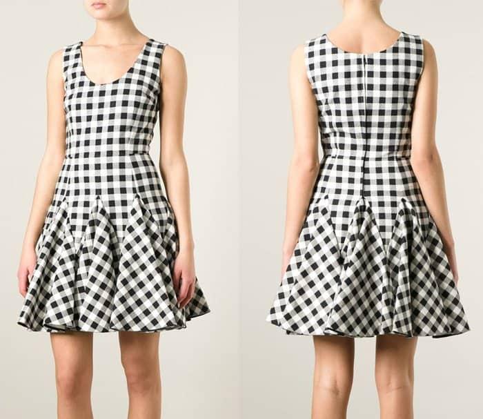 Dolce & Gabbana Check Flared Dress