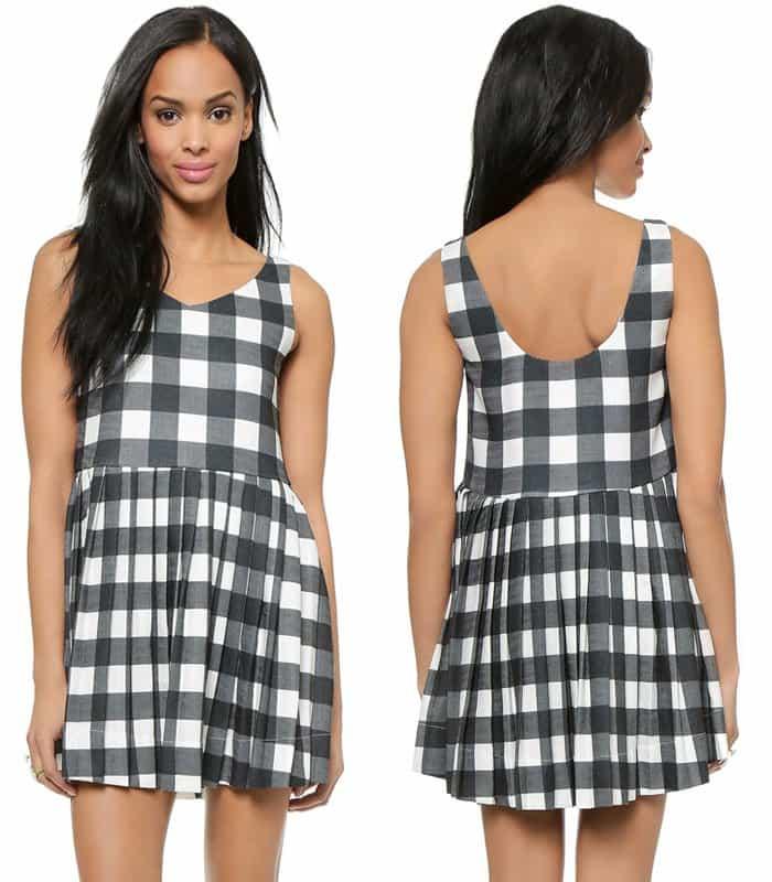 JOA Gingham Dress