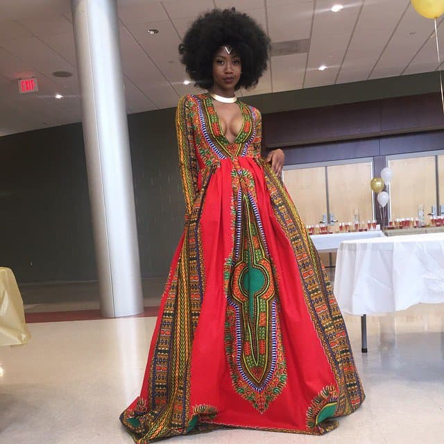 Kyemah McEntyre's self-designed prom dress